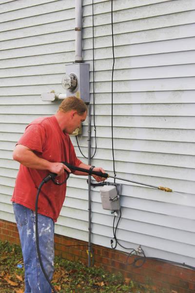 power washing vinyl siding