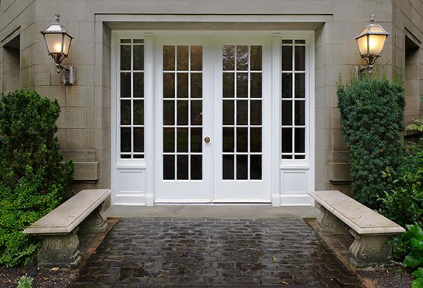 white front doors